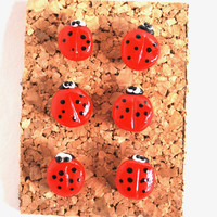 On Sale Ladybug Giant Pushpins Thumbtacks for Bulletin Board Cork Boards