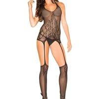 Be Wicked BWB79 Sheer Suspender Bodystocking