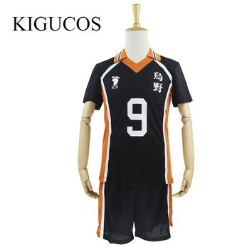 Cool KIGUCOS 9 Styles Hot Anime Karasuno High School Cosplay Costumes Haikyuu!! Outfit Jerseys Shirts and Pants UniformAT_93_12