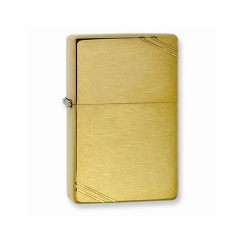 Zippo Vintage Brushed Brass Lighter - Engravable Personalized Gift Item