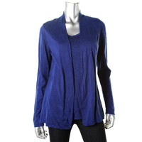 Charter Club Womens Knit Embellished Sweater Twinset