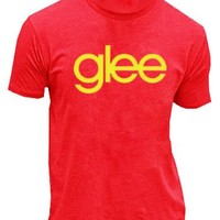 Glee TV Show Logo Red MENS T-shirt  - Glee  - | TV Store Online