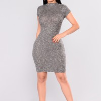Tinsley Knit Dress - Black/White