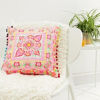 Bombay Duck Tulum Square Embroidered Cushion at asos.com