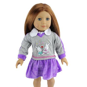 1pcs/set Winter Dress For For American Girl Doll ,Clothes For 18 Inch Doll , Christmas Girl's Gift