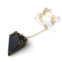 Diamond Pendant Necklace Black | EABurns