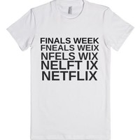 Netflix White-Female White T-Shirt