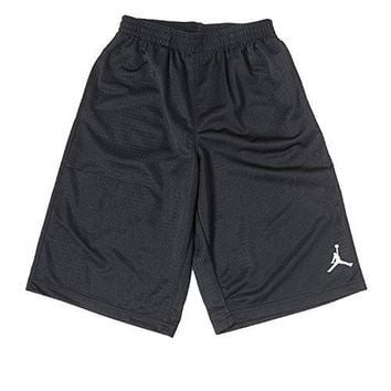 Jordan Boys (8-20) Nike Air Jumpman Basketball Shorts-Black-Medium