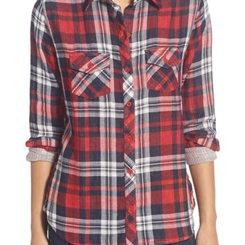Beach Lunch Lounge Double Face Woven Plaid Shirt | Nordstrom