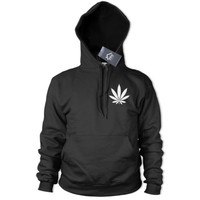 Marijuana leaf Small Pocket Logo Hoodie Drugs Weed Street Emo Smoke Hoody 318