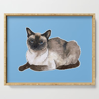 Siamese cat Serving Tray by savousepate