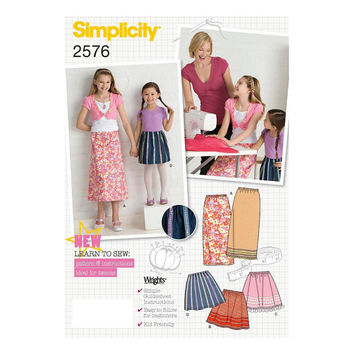 Simplicity 2576 Child's/Girls' Skirts, Sewing Pattern, Size HH 3,4,5,6, New, Uncut, Factory Folds