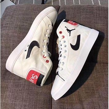 Best Online Sale Supreme x Nike Retro Air Jordan Sky High OG Mid White Red Black Shoes