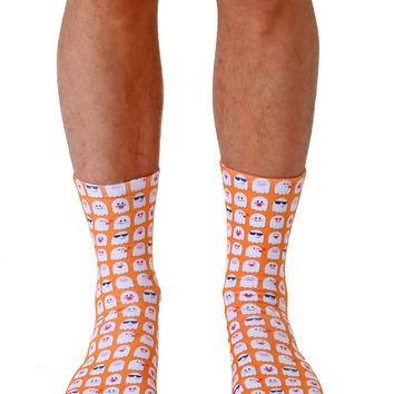 Emoji Ghosts Crew Socks