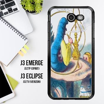 Alice In Wonderland Hookah Caterpillar V1381 Samsung Galaxy J3 Emerge, J3 Eclipse , Amp Prime 2, Express Prime 2 2017 SM J327 Case