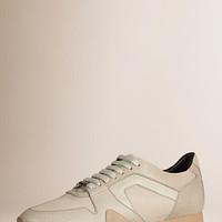 The Field Sneaker in Leather and Mesh