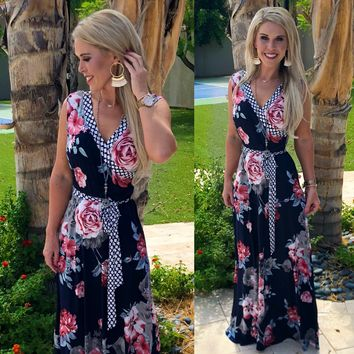Your Desire Navy Maxi Dress