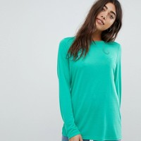 ASOS DESIGN T-Shirt with Longline Sleeve in Lightweight Jersey at asos.com