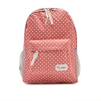 Fashion Polka Dots Canvas Backpack School Bag