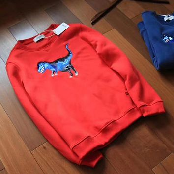 COACH Woman Men Fashion Embroidery Round Neck Top Sweater Pullover