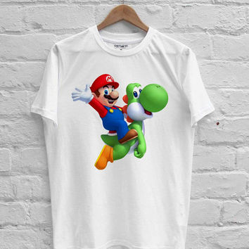 Super Mario riding Yoshi T-shirt Men, Women, Youth and Toddler