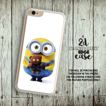 Lg g5 case bob minion Nexus 6 transparent Case cute phone case Nexus 5 case teddy bear LG G4 Case minion Htc 10 case clear Htc M8 Case LU374