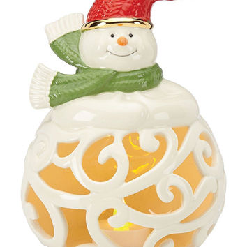 Merry and Bright Snowman Lit Figurine 7 inc. by Lenox
