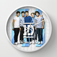 One Direction Stripes Wall Clock by dan ron eli