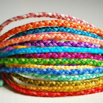 Braided Bracelet Choose your own colors by delightfullycreated7
