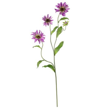 Silk Flowers -28.5 Inch Purple Cosmo Stem -Set Of 12 Flower Artificial Plant