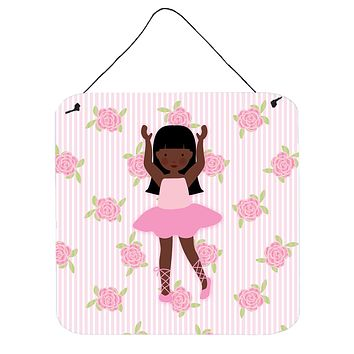 Ballerina African American Long Hair Wall or Door Hanging Prints BB5180DS66