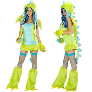 J. Valentine Puff the Dragon Outfit : Cute Sexy Rave Costumes from RaveReady
