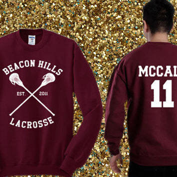 Beacon Hills Lacrosse - Scott McCall 11 Sweater , crewneck sweater available for men and woman unisex adult