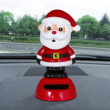 Multicolor funnyhead doll Size10*6cm Solar Powered Dancing Christmas gift Swinging Animated Bobble Dancer Toy Car Decor ag16 P30