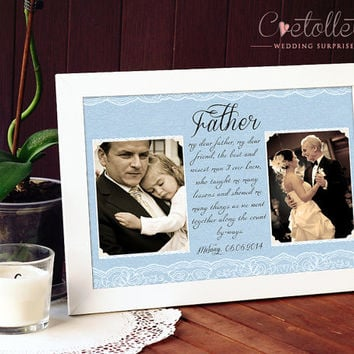 Father of the Bride Gift - Parents Wedding Gift, Parents of the Bride, Personalized Picture Frame