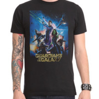 Marvel Guardians Of The Galaxy Poster T-Shirt