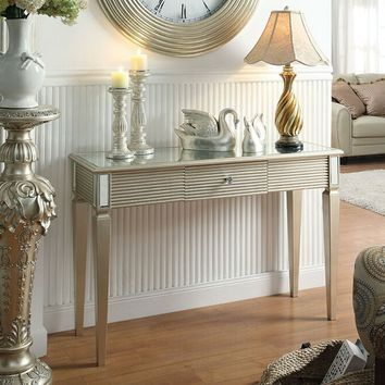 Shannon collection silver finish wood hall console entry table (CLONE)