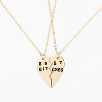 Urban Outfitters - Best B*tches Necklace - Set Of 2