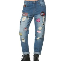 Patched Up Californian Boyfriend Jeans