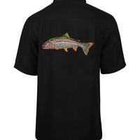 Men's Rainbow Trout Embroidered Fishing Shirt