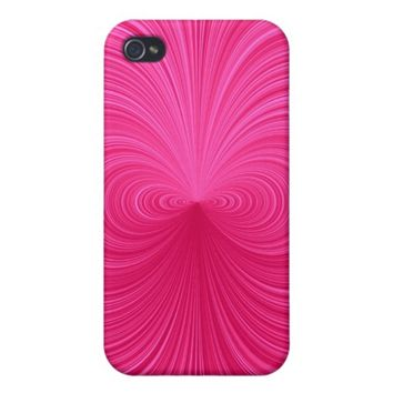Pink Vortex Case For iPhone 4