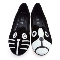 Dog Cat Women's Shoes  Loafers  Cartoon Suede