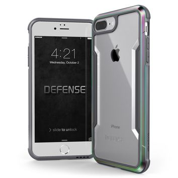 iPhone 8 Plus & iPhone 7 Plus Case, X-Doria Defense Shield Series - Military Grade Drop Tested, Anodized Aluminum, TPU, and Polycarbonate Protective Case for Apple iPhone 8 Plus & 7 Plus, (Iridescent)