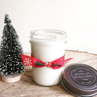 Soy candles Holly Berry like yankee glass jelly jar balsam berries cinnamon birthday gift for her christmas decoration corporate gift