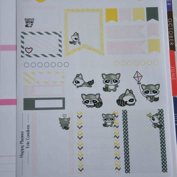NLO-006 / / Scheduler set ' sweet animals' - planners stickers for Erin Condren, happy Planner and others