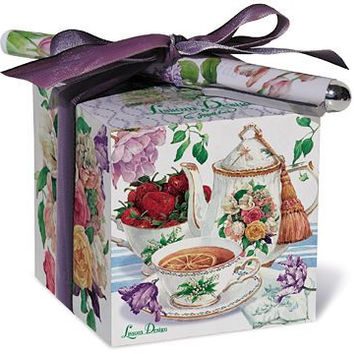 Tea Rose Cottage Paper Note Block and Pen