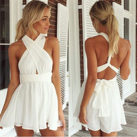 Solid Wrapped Romper