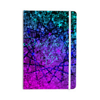 "Ebi Emporium ""Reach For The Stars"" Pink Teal Everything Notebook"