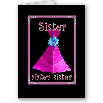 SISTER Be My Maid of Honor or Any Wedding Role with Magenta Pink Gown Customizable Invitation
