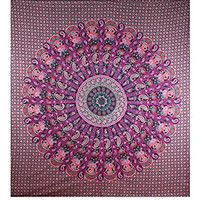 Elephant Mandala Tapestries Paisley Hippie Tapestry Indian Traditional Throw Bohemian Wall Hanging Boho Psychedelic Queen Bedspread Beach Throw Wall Art College Dorm